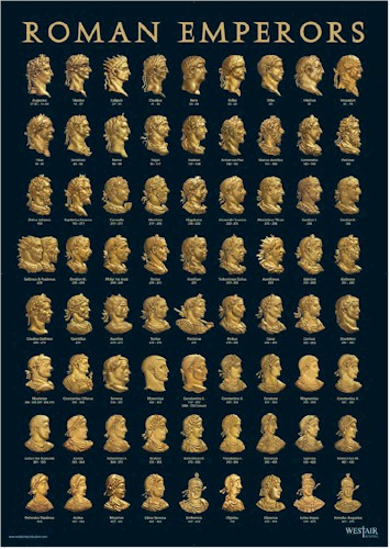Roman Emperors Poster - A3
