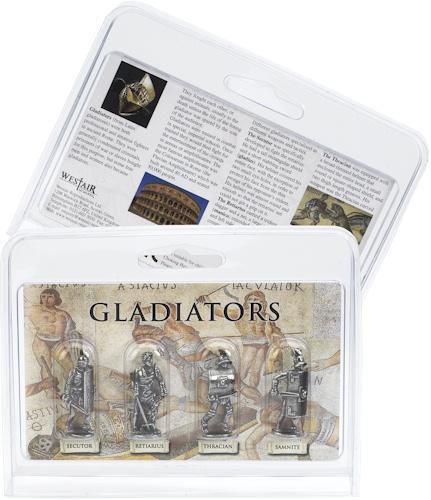 Roman Gladiator Pack of 4 Miniature Figures