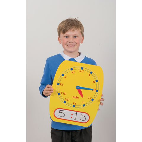 Teacher Demo Roman Numeral Dry Wipe Clock
