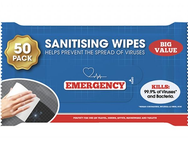 SANITISING WIPES 50 PACK